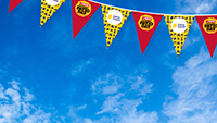 Virtual event background - Bunting